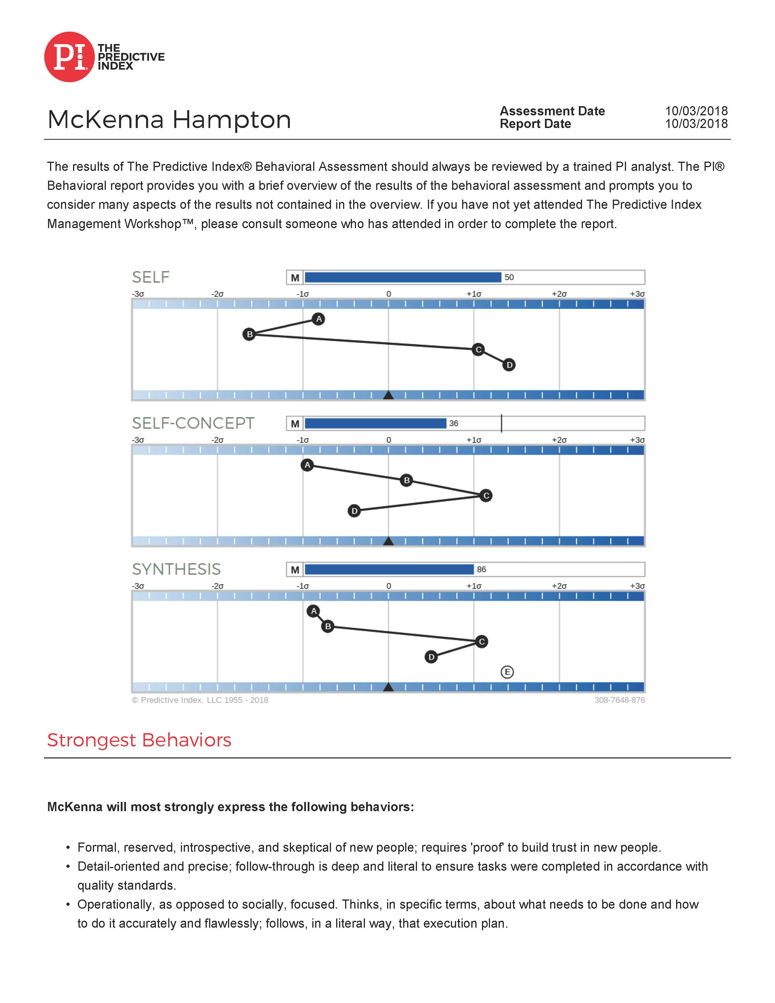 Predictive Index Page 1